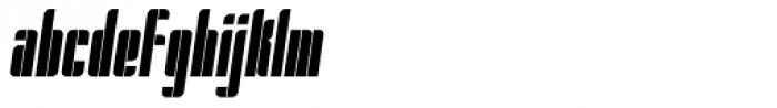 Pila Condensed Oblique Font LOWERCASE