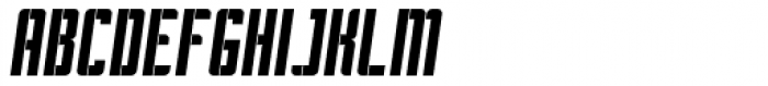 Pila Oblique Font UPPERCASE