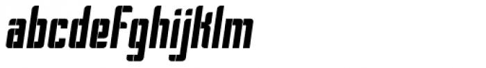 Pila Oblique Font LOWERCASE