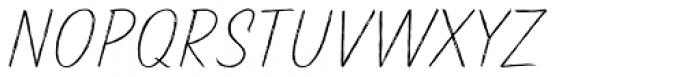Pinatas Marks Rough ExtraLight Font UPPERCASE