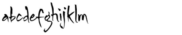Pincel Font LOWERCASE