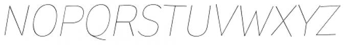 Pines Thin Italic Font UPPERCASE