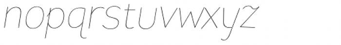 Pines Thin Italic Font LOWERCASE