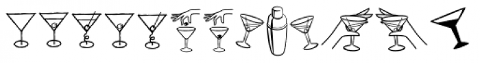 Pink Martini Icons Font LOWERCASE