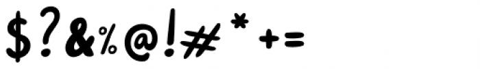 Pink Shark Regular Font OTHER CHARS