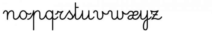 Pinocchio Mono Regular Font LOWERCASE
