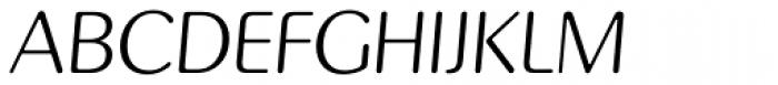 Pinot Grigio Modern Light Italic Font UPPERCASE
