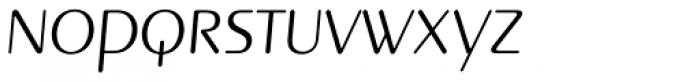 Pinot Grigio Modern Light Italic Font LOWERCASE