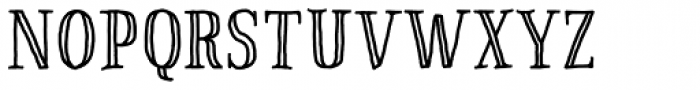 Pinto NO_03 Engraved Font UPPERCASE