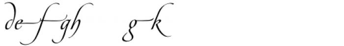 Pirouette Alternate Font LOWERCASE