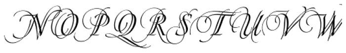 Pirouette Regular Font UPPERCASE