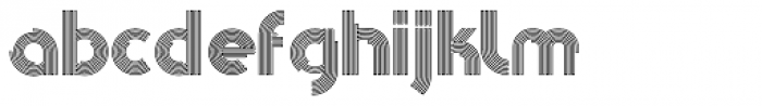 Pista Outline Font LOWERCASE