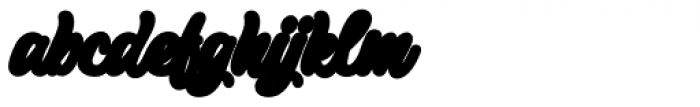 Pistoletto Background Font LOWERCASE