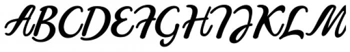 Pistoletto Black Font UPPERCASE