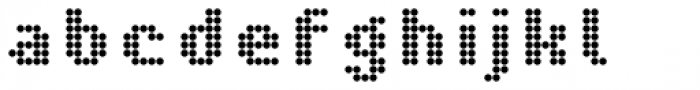 Pixa Circle 212 Font LOWERCASE