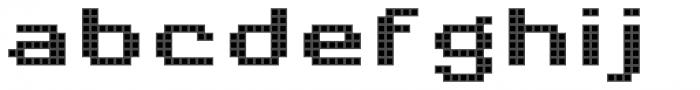 Pixa Square 232 Font LOWERCASE