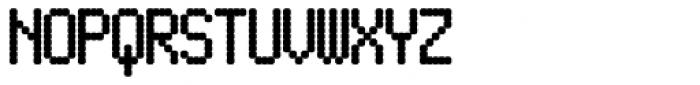 Pixel Gantry AOE Bold Font UPPERCASE