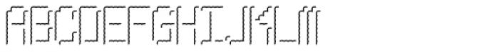 Pixel Gantry Hilite AOE Font UPPERCASE