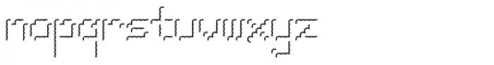 Pixel Gantry Hilite AOE Font LOWERCASE