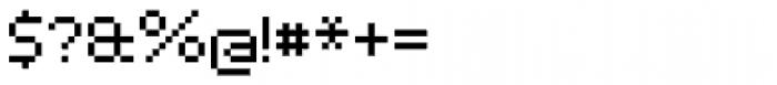 Pixelar Regular Font OTHER CHARS