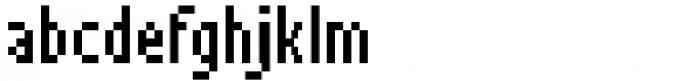 Pixerius Condensed Font LOWERCASE