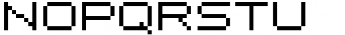 Pixerius Expanded Font UPPERCASE