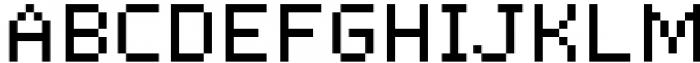 Pixerius Random Font UPPERCASE