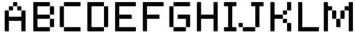 Pixerius Regular Rounded15 Font UPPERCASE