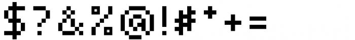 Pixerius Regular Font OTHER CHARS