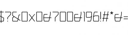 Picnica Regular Font OTHER CHARS