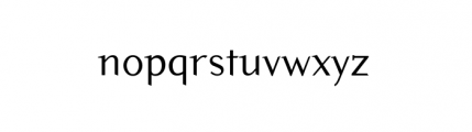 Pilgrim (plain) Font LOWERCASE