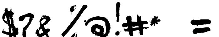 PJGrunge Font OTHER CHARS