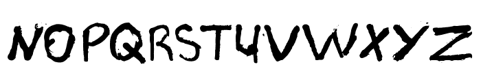 PJGrunge Font UPPERCASE