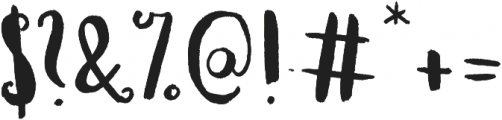 Planine Script ttf (400) Font OTHER CHARS