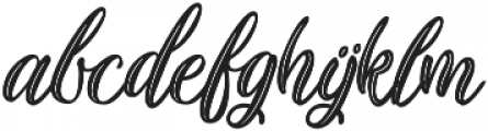 Plastic Beauty ttf (400) Font LOWERCASE