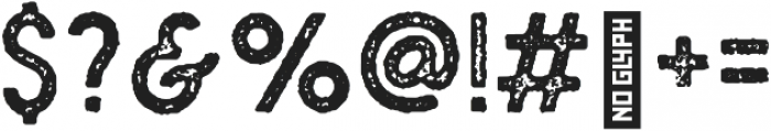 Plat Condensed Grunge 1 otf (400) Font OTHER CHARS