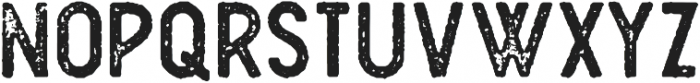 Plat Condensed Grunge 1 otf (400) Font UPPERCASE