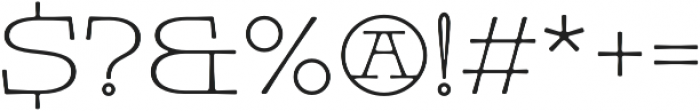 Pleinair otf (400) Font OTHER CHARS