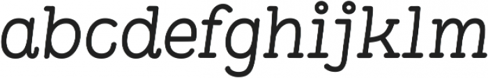Pleuf Pro Medium Oblique ttf (500) Font LOWERCASE