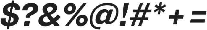 Pluto Sans Bold  Oblique otf (700) Font OTHER CHARS