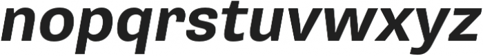 Pluto Sans Bold  Oblique otf (700) Font LOWERCASE
