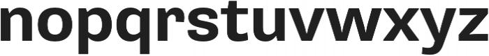 Pluto Sans Bold Regular otf (700) Font LOWERCASE
