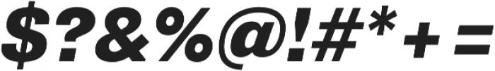 Pluto Sans Heavy Italic otf (800) Font OTHER CHARS