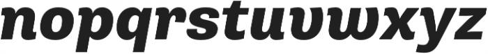 Pluto Sans Heavy Italic otf (800) Font LOWERCASE
