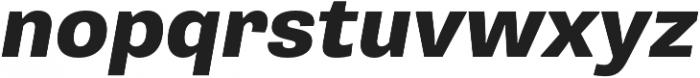 Pluto Sans Heavy Oblique otf (800) Font LOWERCASE