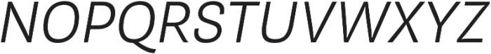 Pluto Sans Light Oblique otf (300) Font UPPERCASE