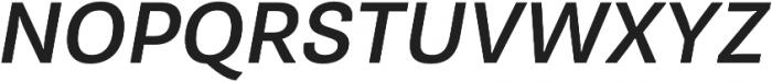 Pluto Sans Medium Oblique otf (500) Font UPPERCASE