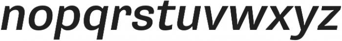Pluto Sans Medium Oblique otf (500) Font LOWERCASE