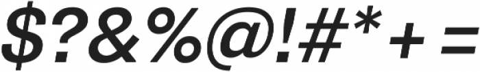 Pluto Sans Medium Oblique ttf (500) Font OTHER CHARS