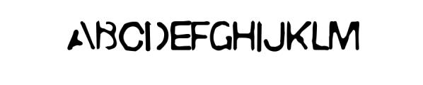 Plummer Script Typeface Font UPPERCASE